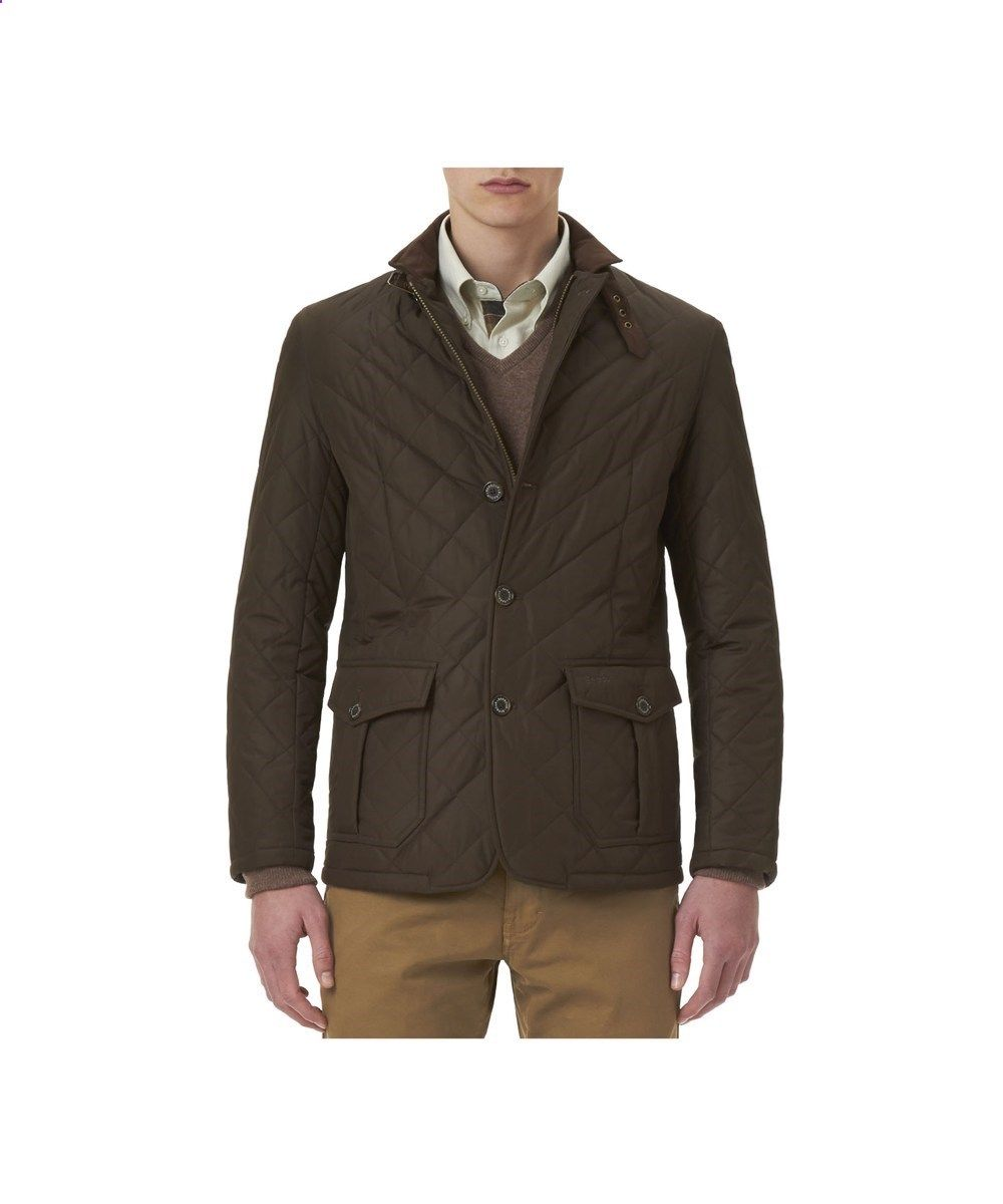 Barbour Quilted Lutz Jacket - Olive  38eea384e