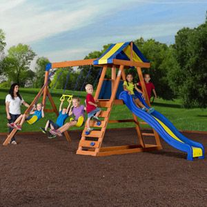 Backyard Discovery Dayton Cedar Wooden Swing Set ...