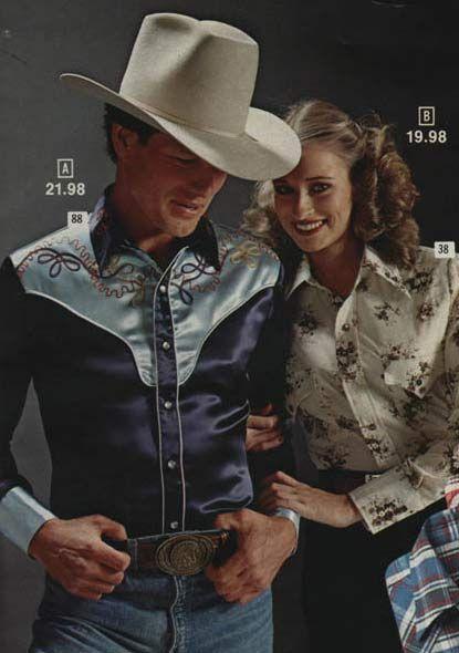 c45e734e12c Men s Satin Western Shirt (1979). Think movie  Urban Cowboy ...