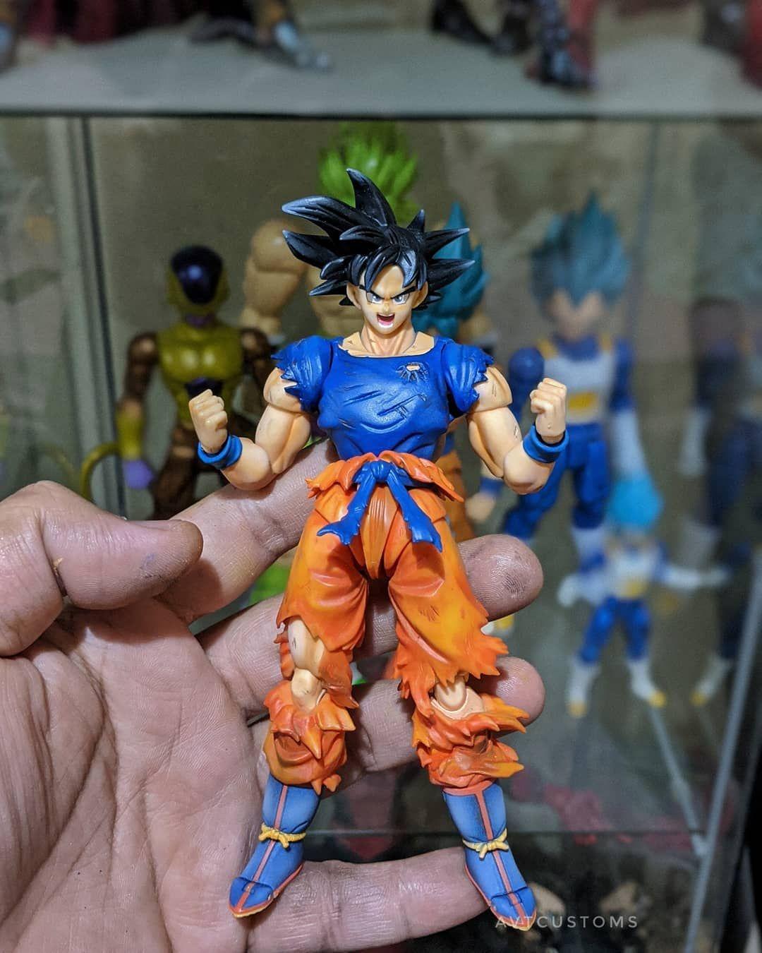 Shf Ultra Instinct Goku By Avtcustoms Goku Super Saiyan Blue Super Saiyan God