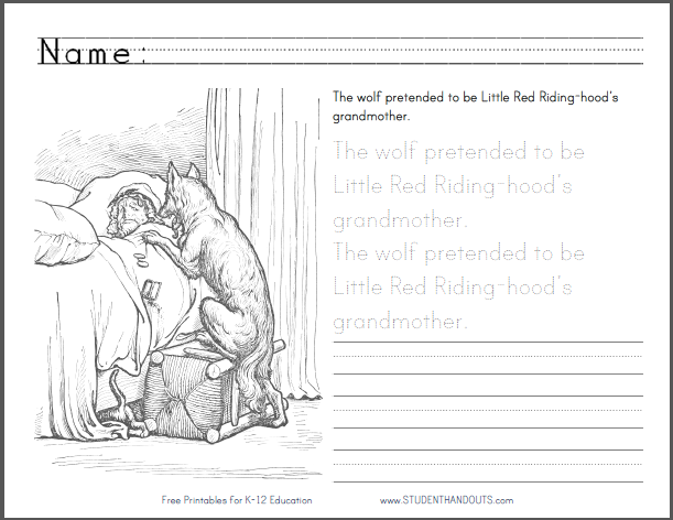 Little Red Ridinghood eBook Printable text of this