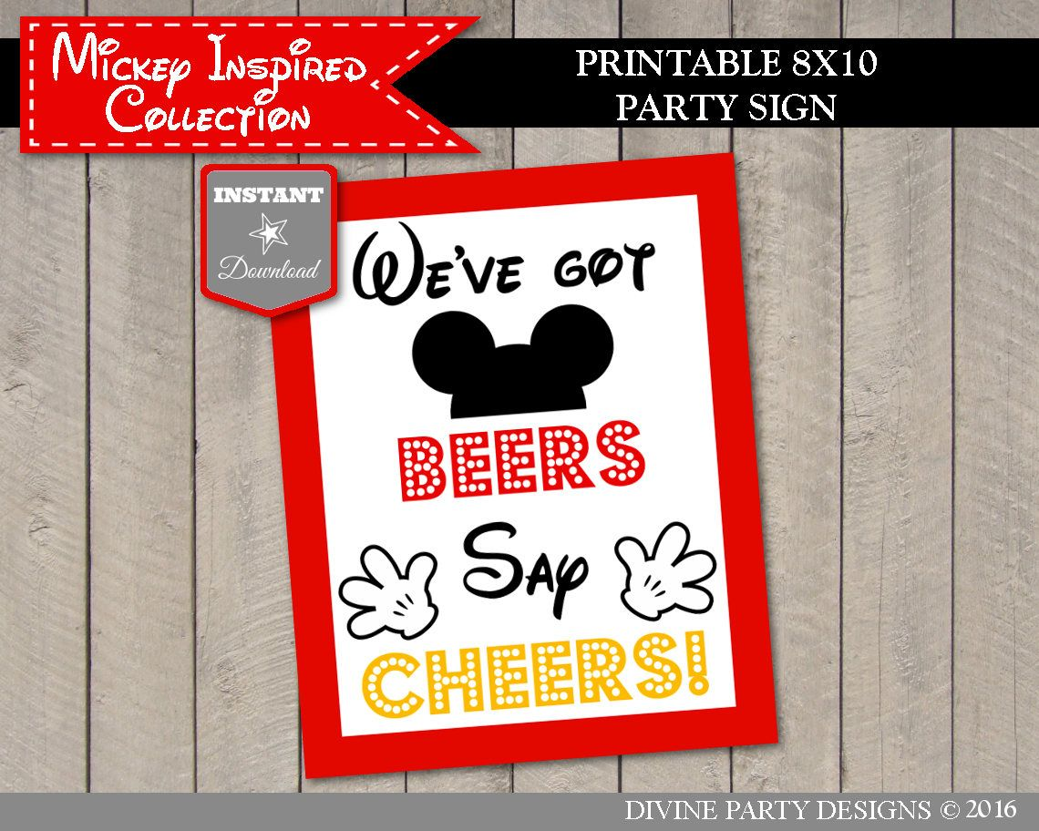5x7 And 8x10 Instant Download Printable Minnie Mouse We Ve Got Beers Say Cheers Party Sign Banners Signs Party Decor Deshpandefoundationindia Org
