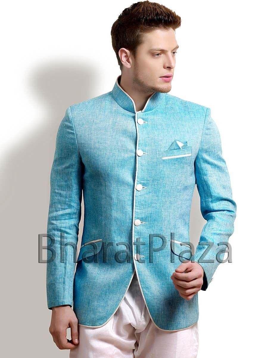 Sky Blue Jodhpuri Coat | Wedding Inspiration | Pinterest | Mens ...
