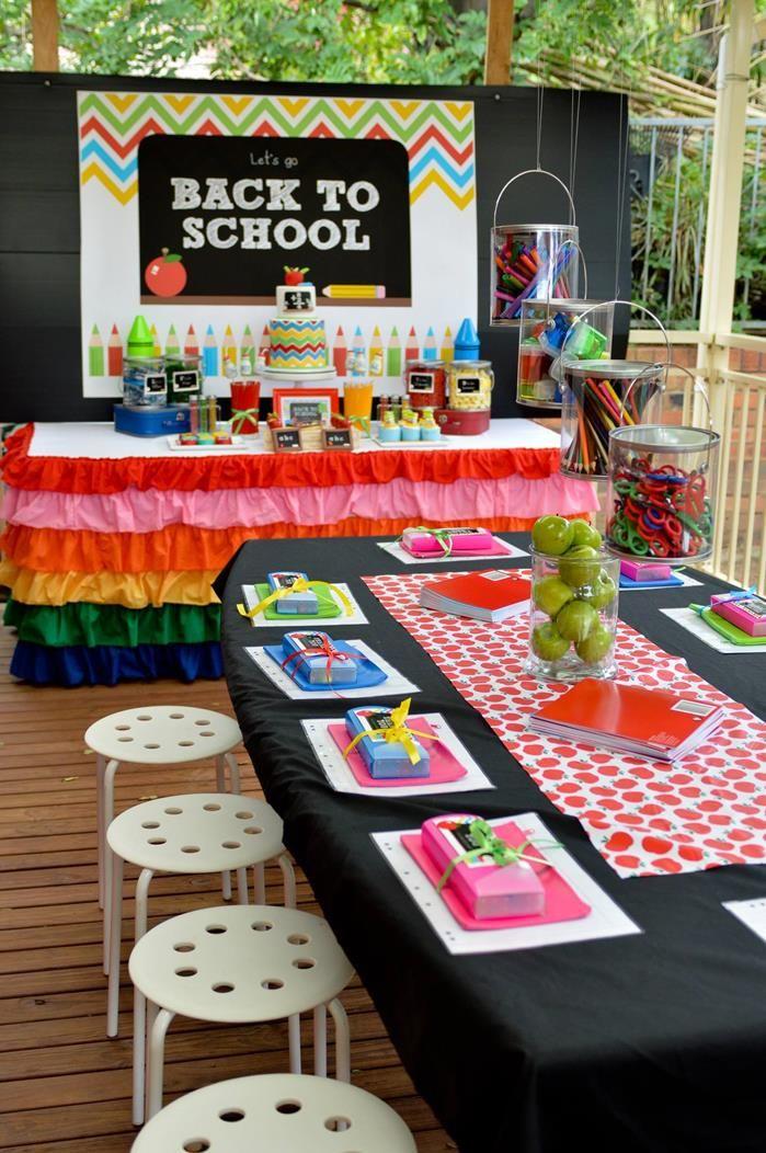 Rainbow Chevron Back To School Party Planning Ideas Supplies Bookworm