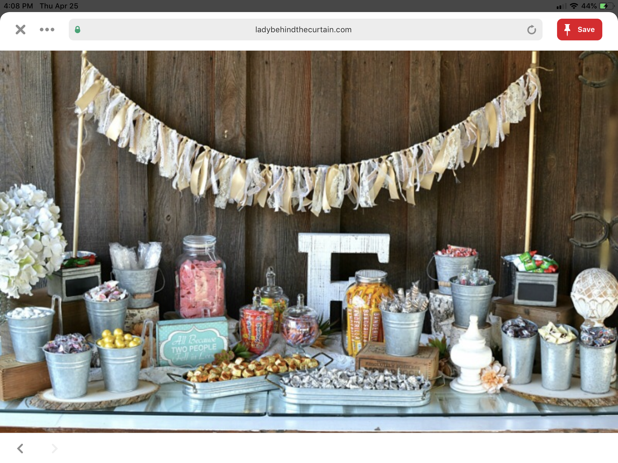 Pin by Cristina Wood on Country Sweet 16 Candy bar