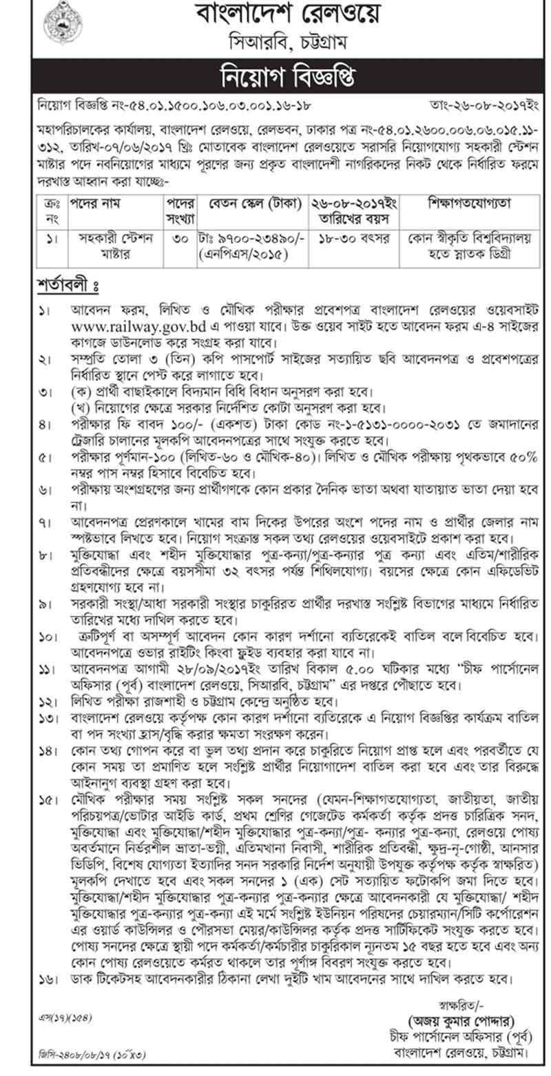 Bangladesh railway jobs circular 2017 bdjobstotal m bangladesh railway circular for jobs seeker is a government job circular in chittagong job application form admit card written exam result info falaconquin
