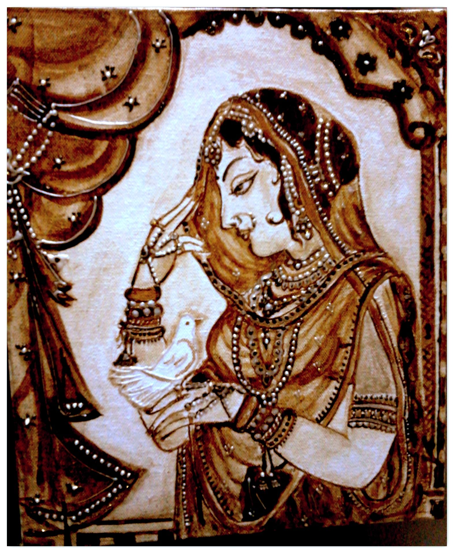 rajput lady coffee painting pinterest best coffee