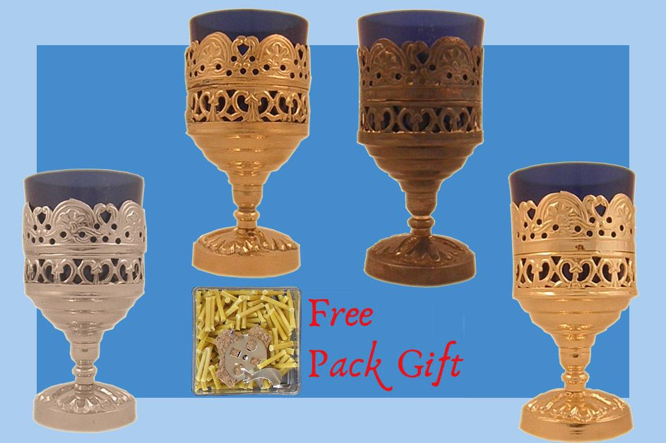 Details About Vigil Metal Oil Candle Traditional Orthodox