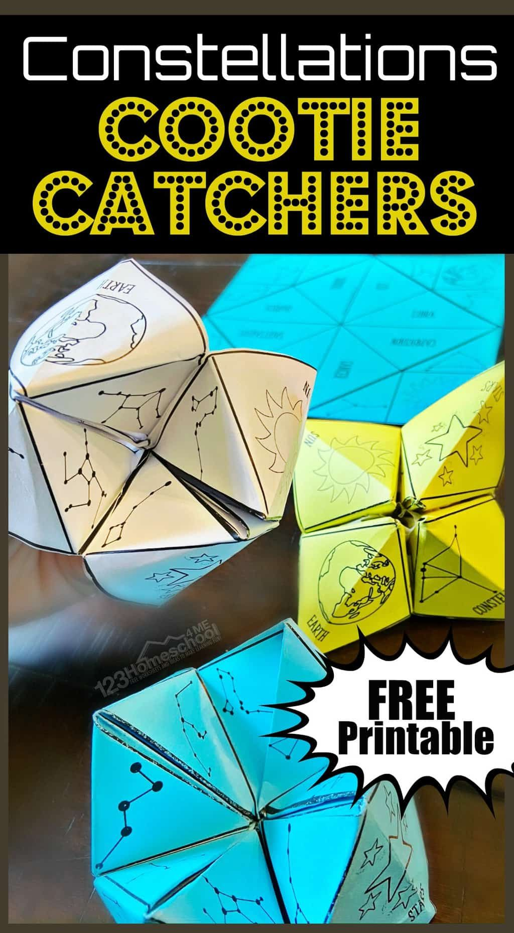 Cootie Catcher Constellations Printable In