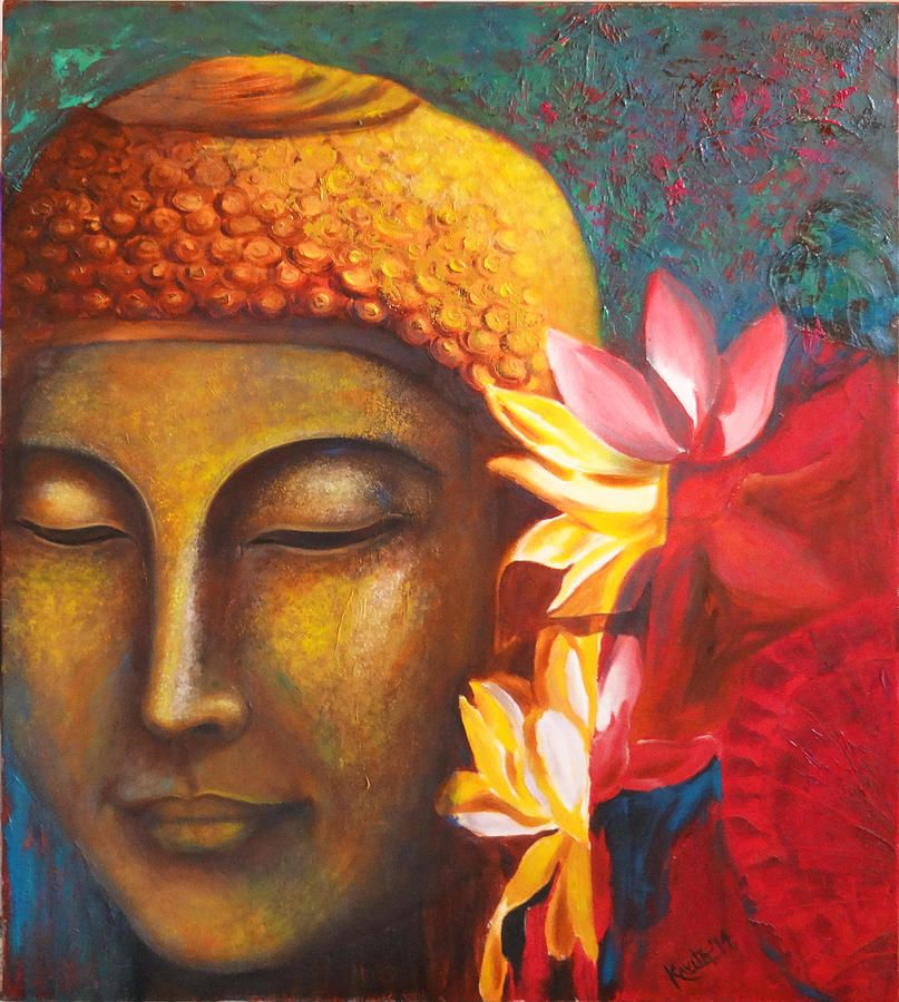Buddha Painting - Absolute Bliss by Kavita Vardhan