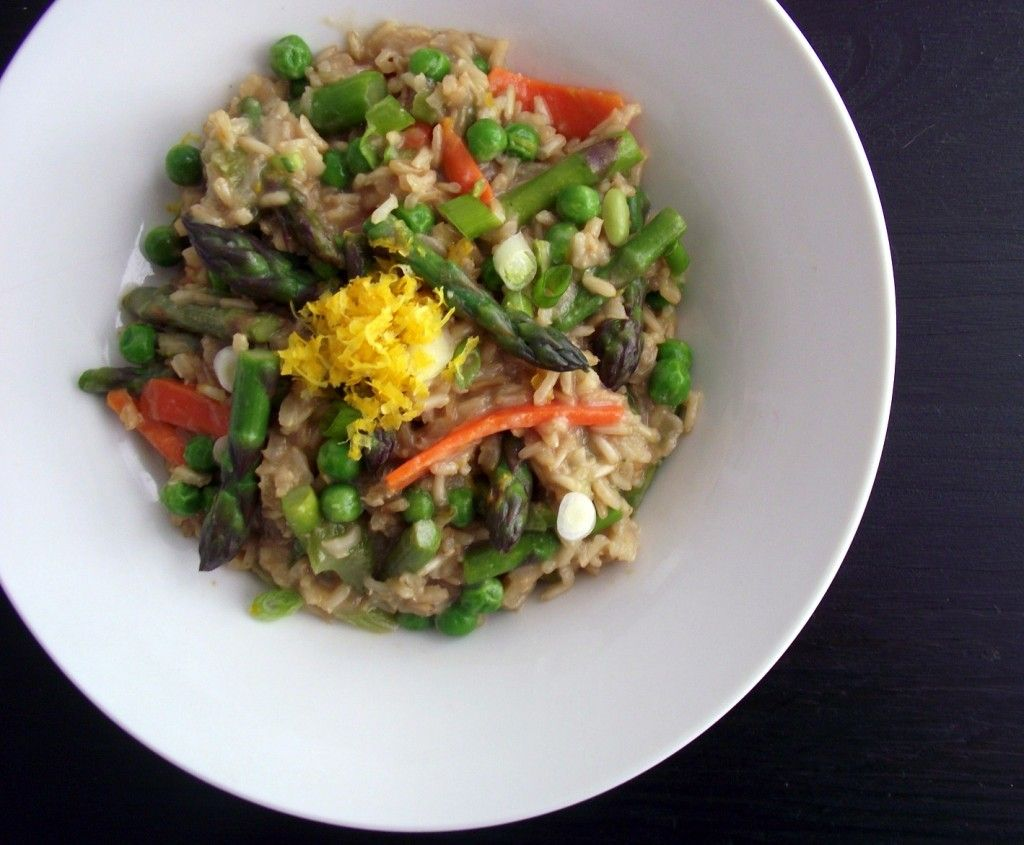 Spring Veggie & Meyer Lemon Brown Rice Risotto