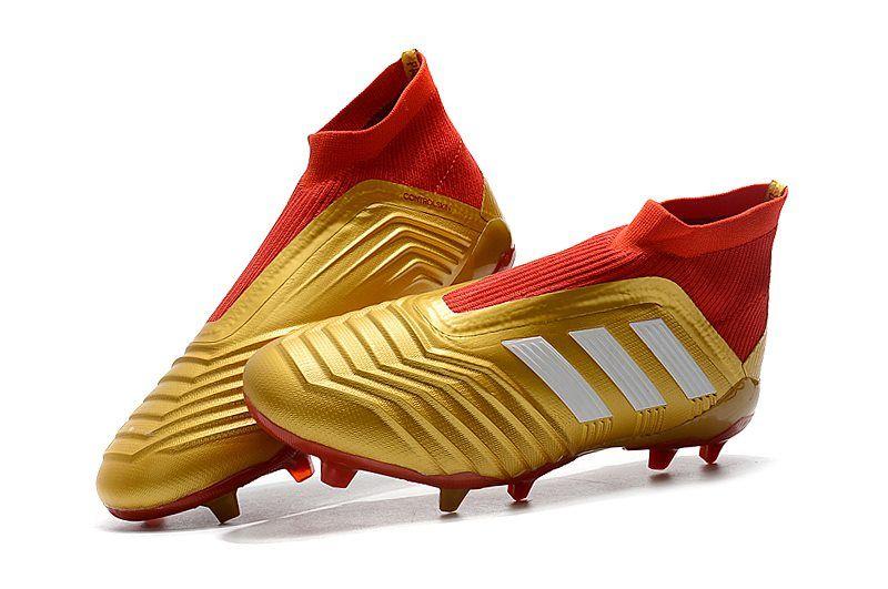 best service 437c6 fd65b Botas de Futbol Nuevo Adidas Predator 18+ FG - Oro Rojo