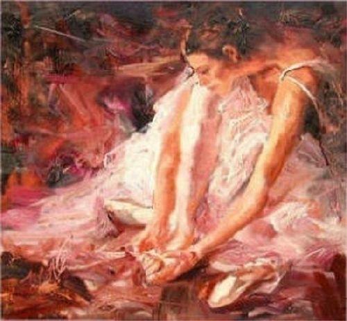 """""""Carmen - After the Dance"""" by Scott Mattlin Oil ~ 18"""" x 19"""""""