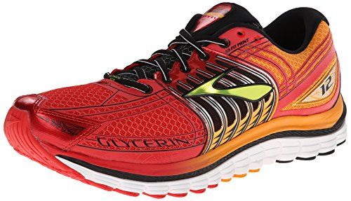 b6ca053e088 Brooks Men s Glycerin 12 Shoes High Risk Red   Flame Orange   Black   Lime  11.5