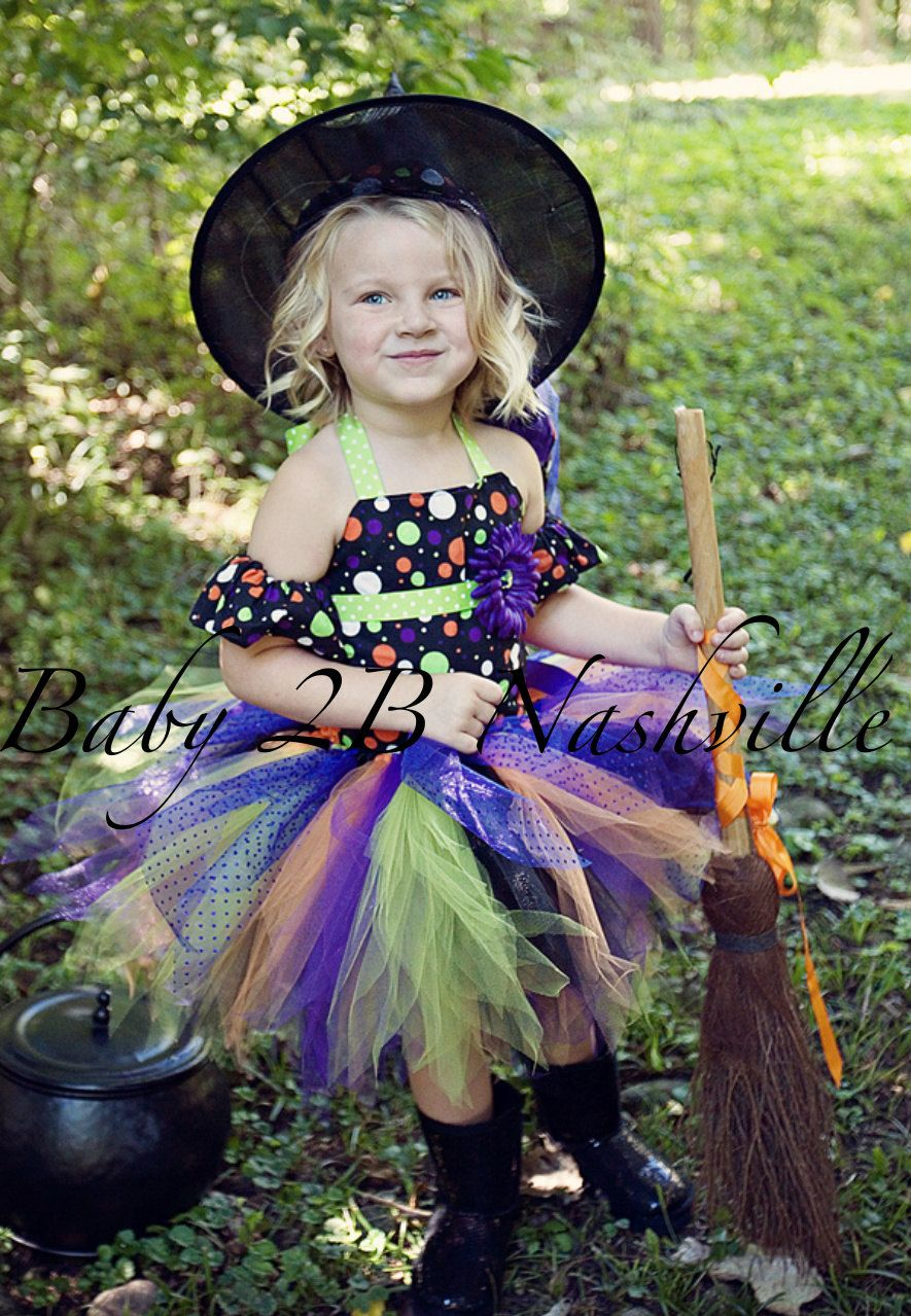Toddler Polka Dot Witch Halloween Costume...Cute but needs more ...
