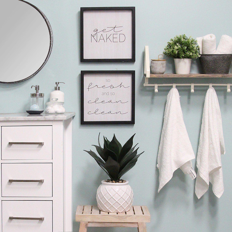 Photo of Set of 2 Get Naked Black Wood Framed Wall Art