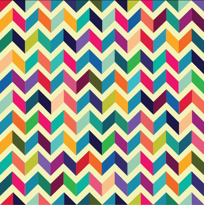 Rainbow chevron pattern. Love the color scheme and the ...