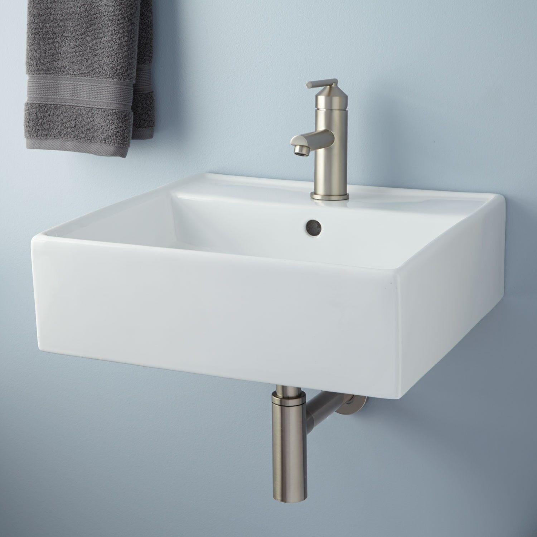 Audrie Wall-Mount Bathroom Sink | Wall mounted bathroom sinks, Wall ...