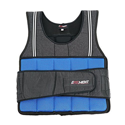 EFITMENT Adjustable Weighted Vest for Fitness (20 lb
