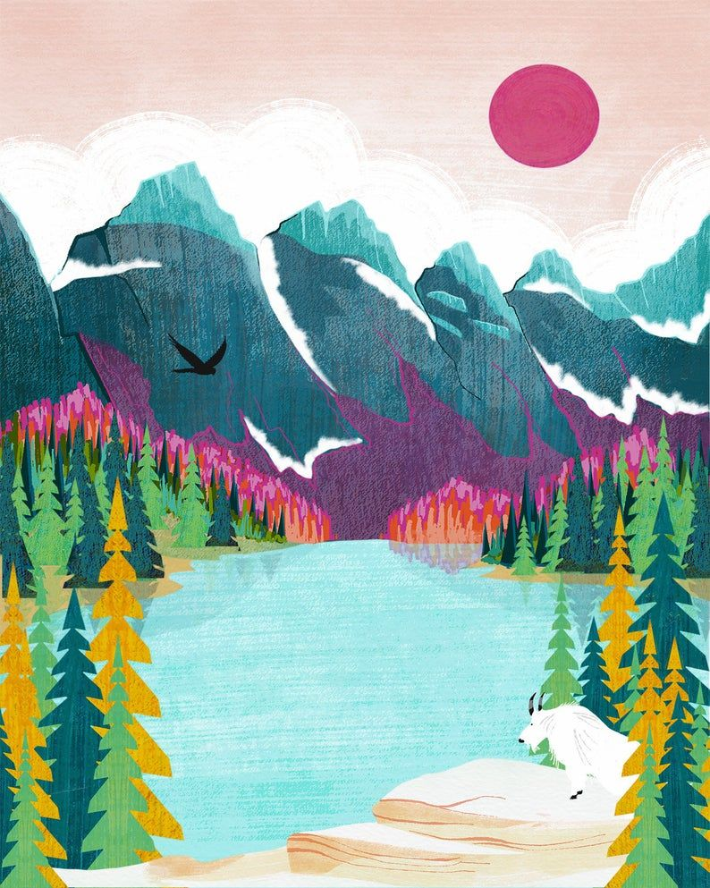 Banff print national park print canada print rocky