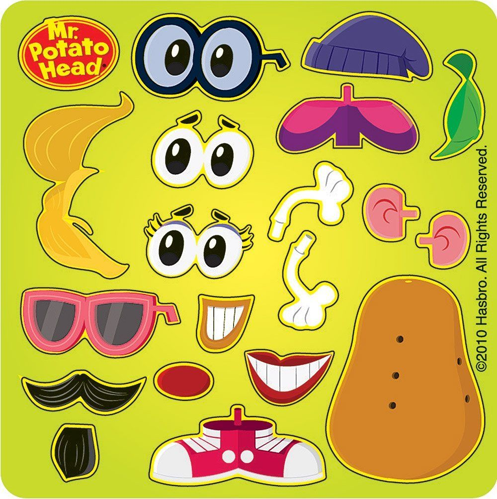 mr potato head printable parts Buscar con Google – Mr Potato Head Birthday Card