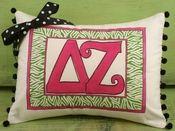 delta zeta pillow