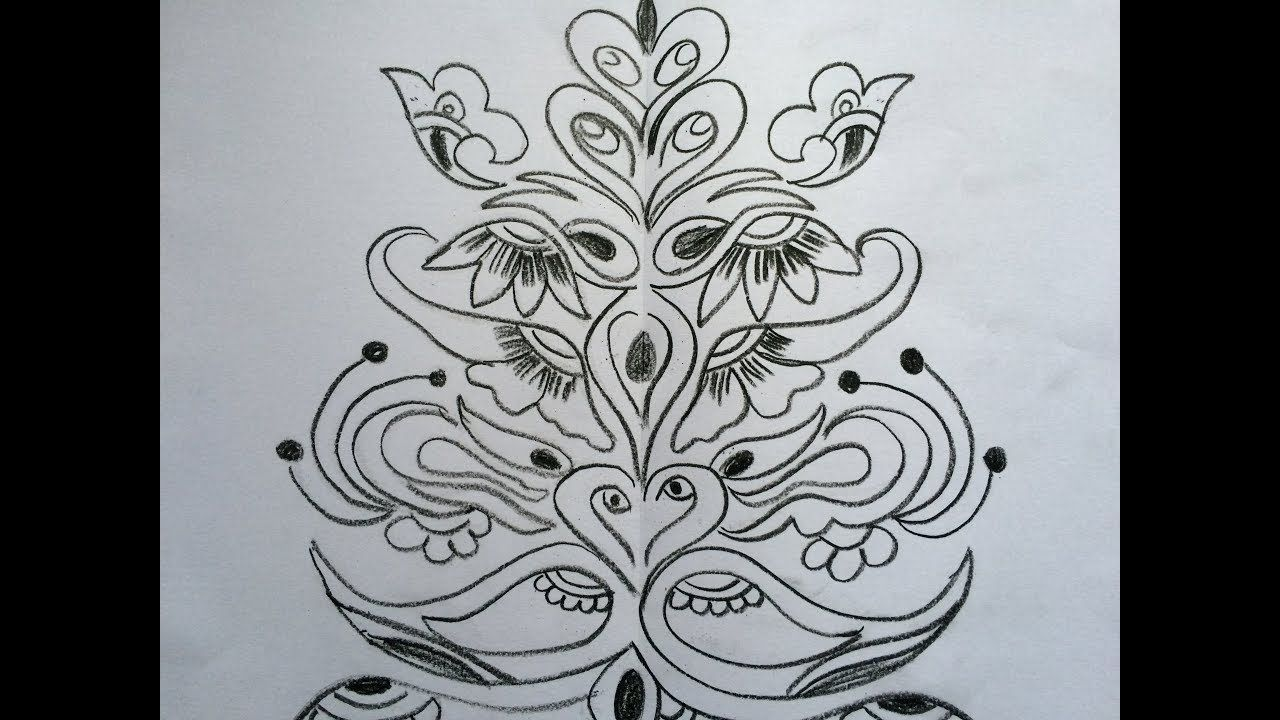 Decorative Painting Draw And Trace Freehand Design Hand Art Drawing Free Hand Designs Drawing Hand Art