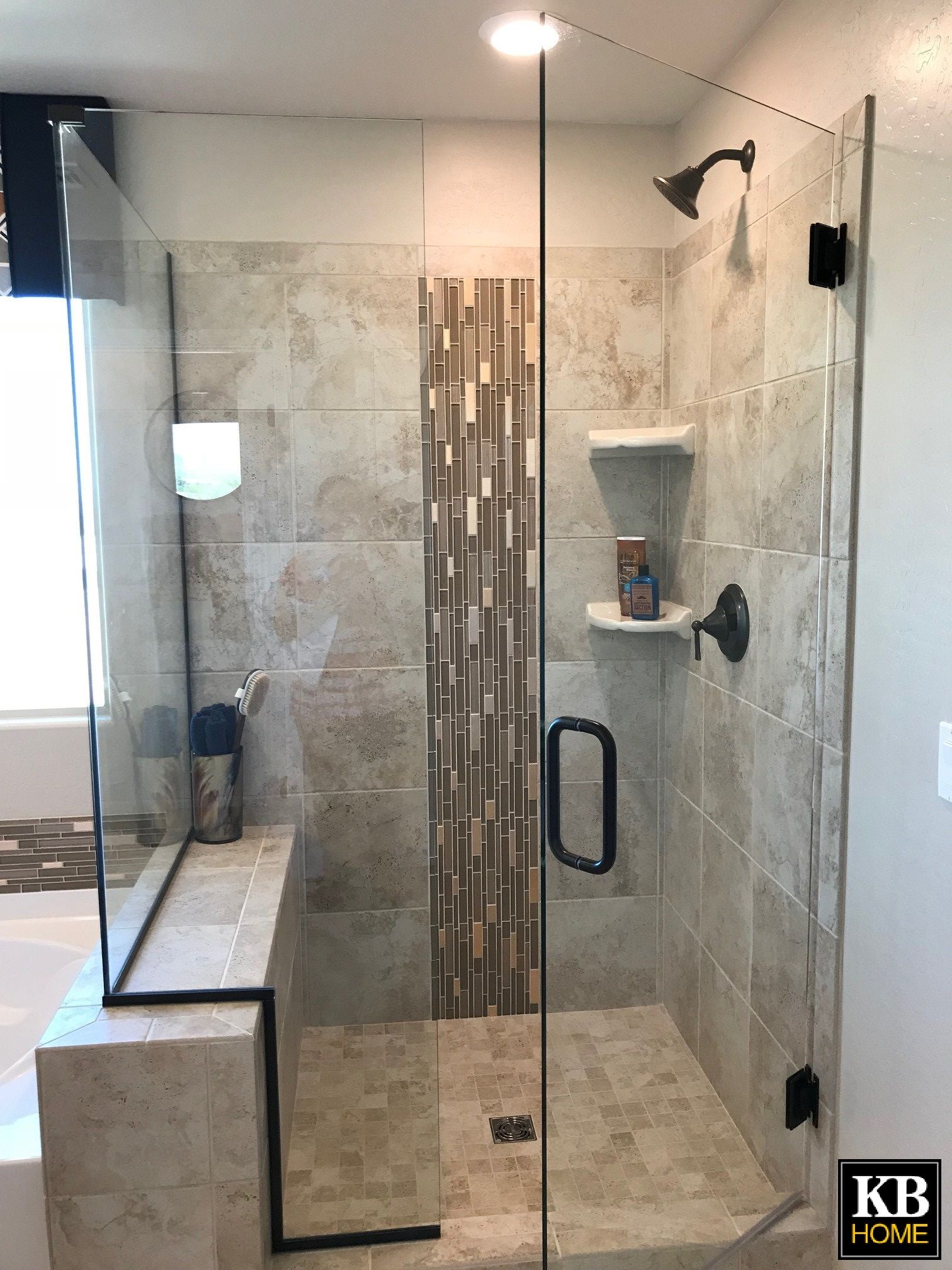 Look At This Shower This Frameless Shower Door With Oil Brushed