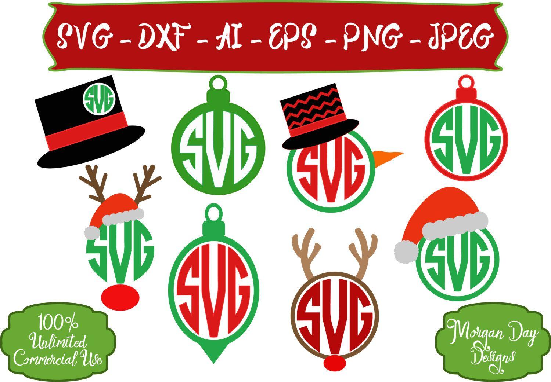 Christmas Monogram SVG Christmas SVG Elf SVG Christmas