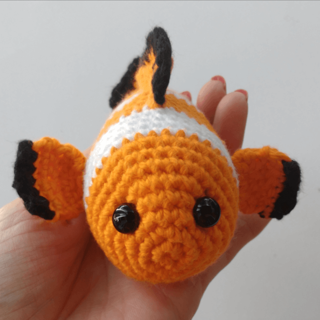 Poisson clown au crochet