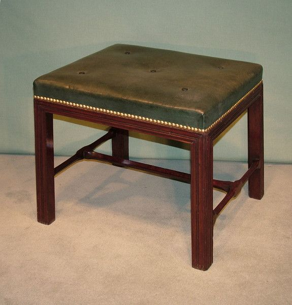 A Mid 18th Century George Iii Period Mahogany Stool Having