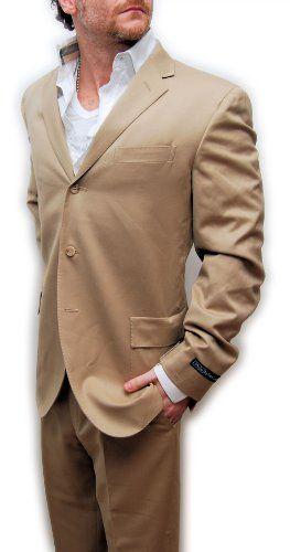 Polo Ralph Lauren Mens Italy Virgin Wool Suit Khaki Brown Tan 3 Button 40L $1395 « Clothing Impulse