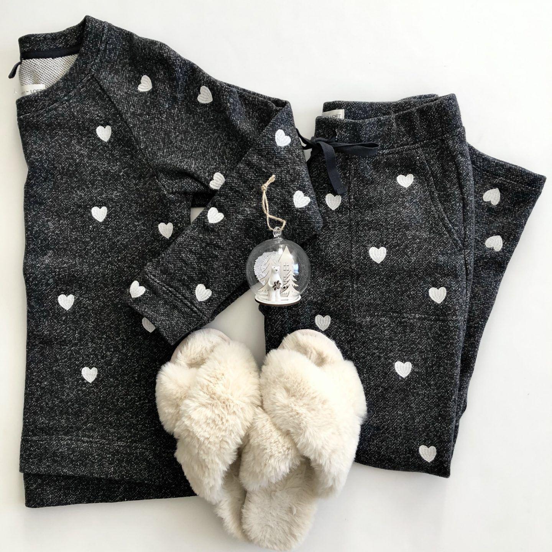 Lou & Grey Embroidered Heart Sweatshirt Set Sweatshirts
