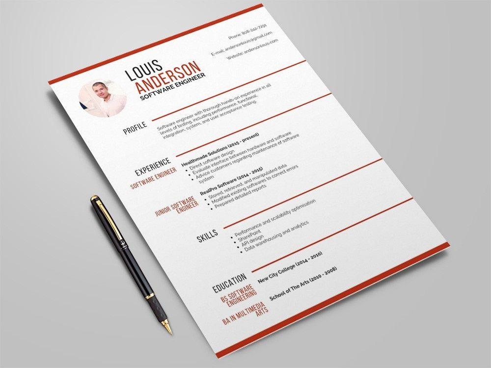 Free Software Engineer Resume Template Resume Freeresumetemplate Jobs Curriculumvitae Freecvtemp In 2020 Resume Template Software Engineer Resume Writing Services