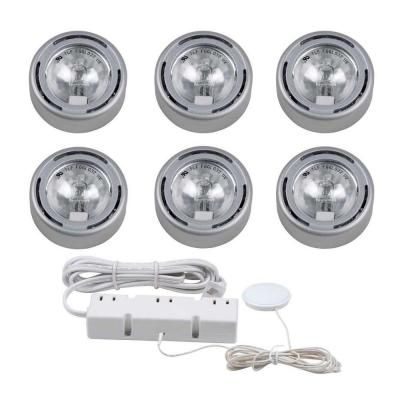 Superieur Hampton Bay 6 Light Silver Under Cabinet Xenon Puck Light Kit EC1333SV At  The Home Depot