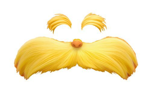 image about Lorax Printable titled The Lorax Mustache Template Printable The Lorax Mustache