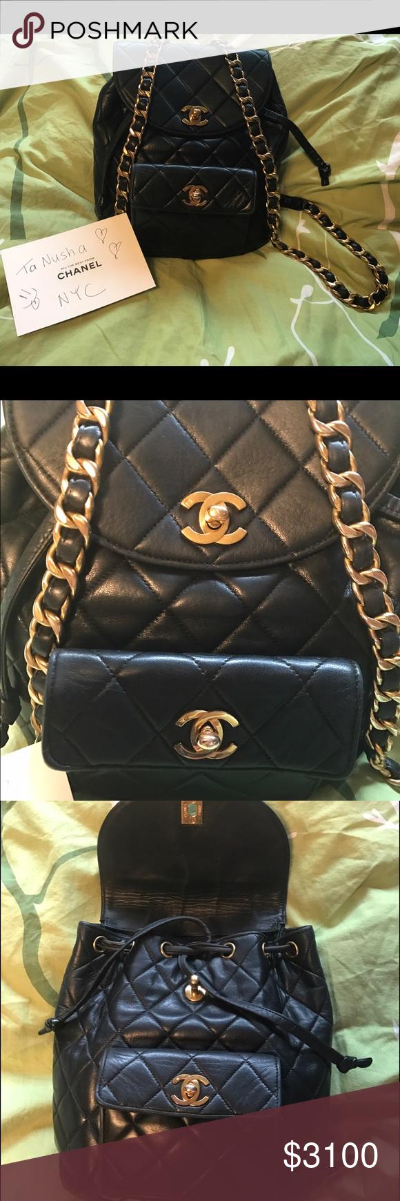 Chanel Double Pocket Vintage Backpack Vintage Backpacks Chanel Chanel Backpack