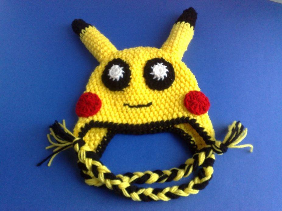 Crochet Pokemon Hat, Kids Crochet Hats, Newborn Hat, Unisex Hat ...
