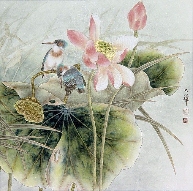 китайская живопись цветы и птицы картинки: 12 тыс ...