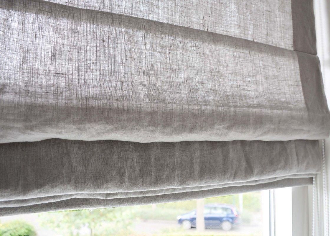 Linnen vouwgordijn | Echtgordijn | gordijn of linnen vouwgordijn op ...