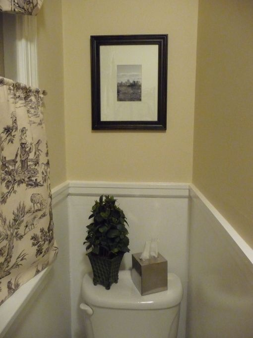 Decorate Small Half Bath | Shaped Half Bathroom, There Was No Bathroom On  The First