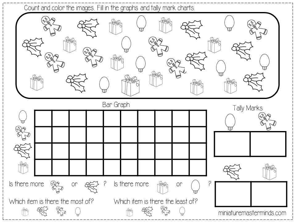 Free Printable Kindergarten And Preschool Christmas Graphing Worksheets Miniature Masterminds Graphing Worksheets Preschool Christmas Graphing