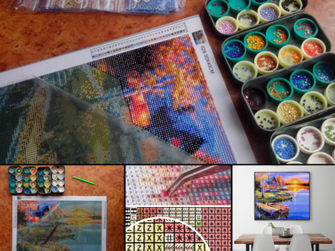 beautiful diamond painting kits for adults cross stitching meets paint by numbers let your mind