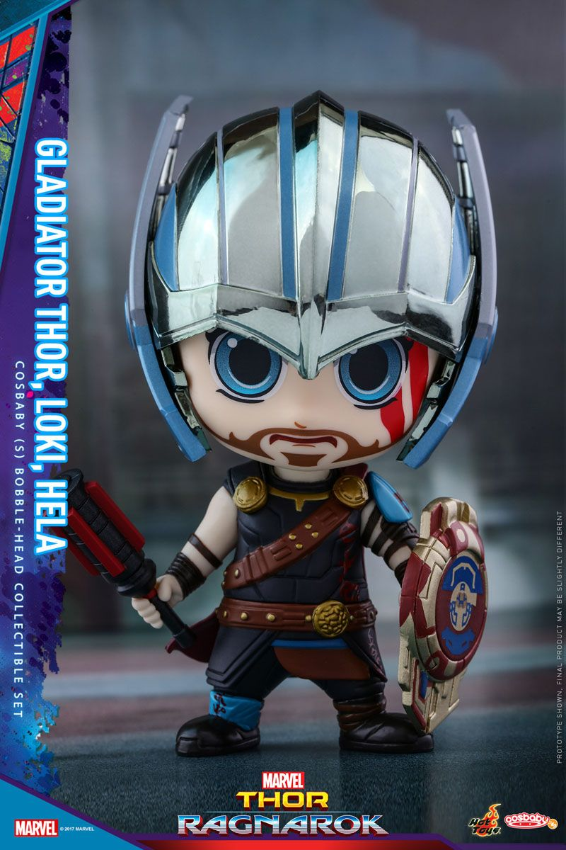 The Thor Ragnarok Cosbaby Bobblehead Series! Chibi