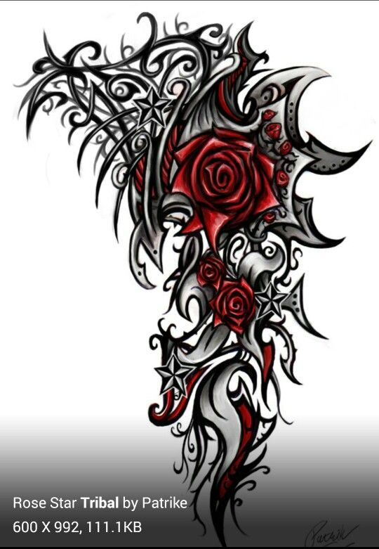 Nice Tattoo Tribal Rose Tattoos Rose Tattoos Tribal Chest Tattoos