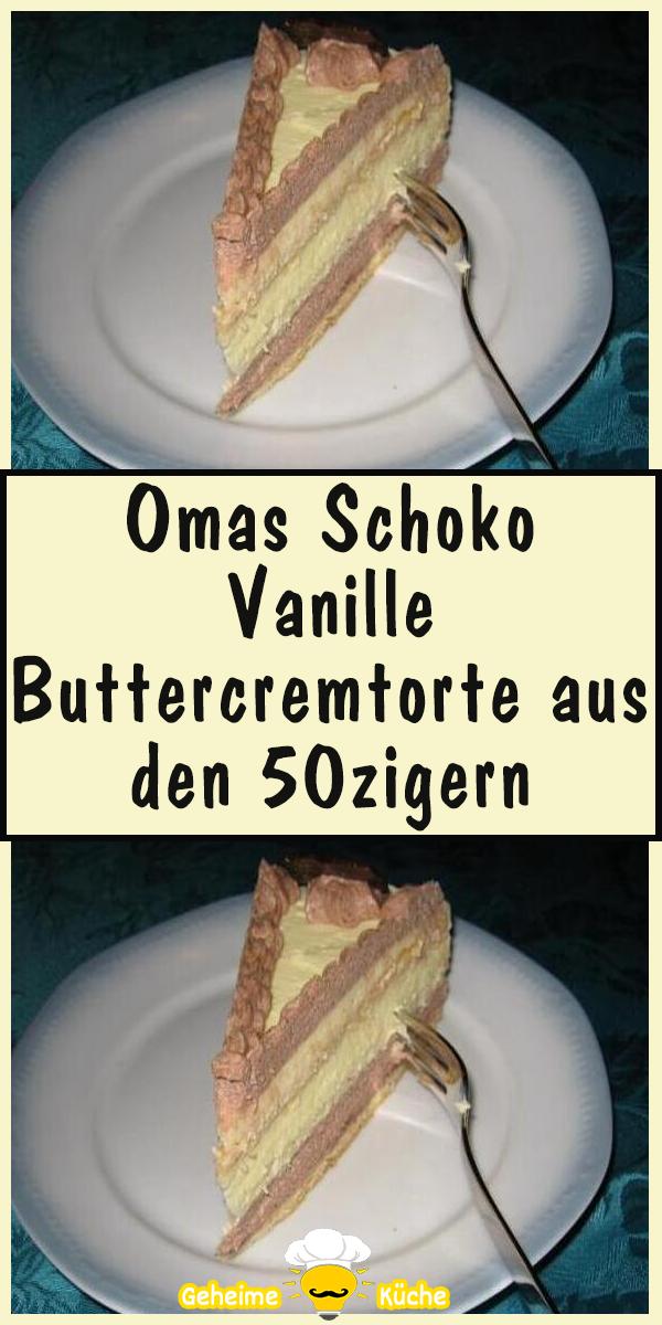 Photo of Omas Schoko Vanille Buttercremtorte aus den 50zigern