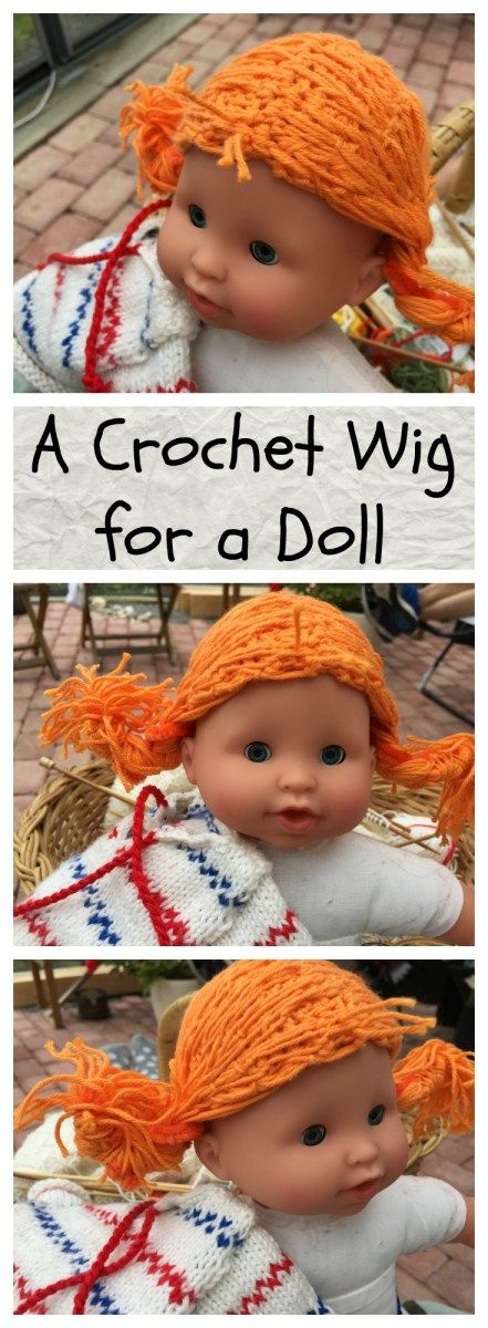 A Crochet Wig for a 20 cm Doll