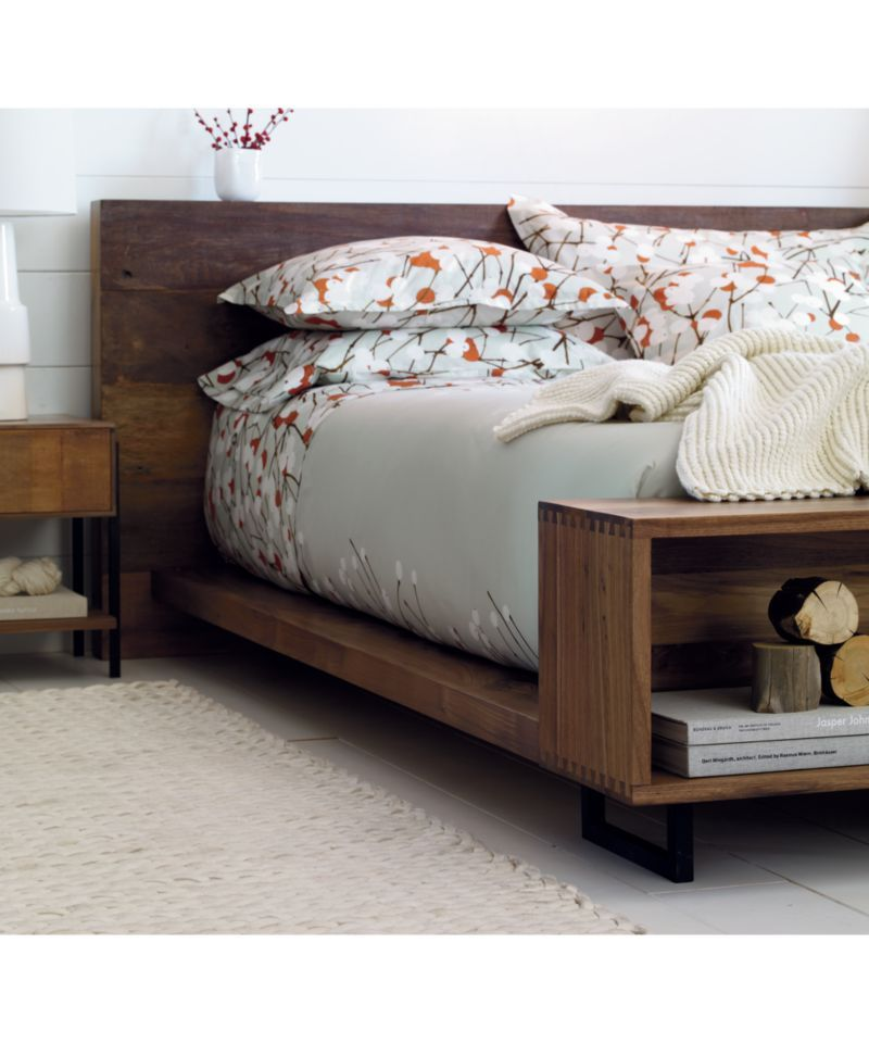 Atwood California King Bed With Bookcase Footboard Headboards