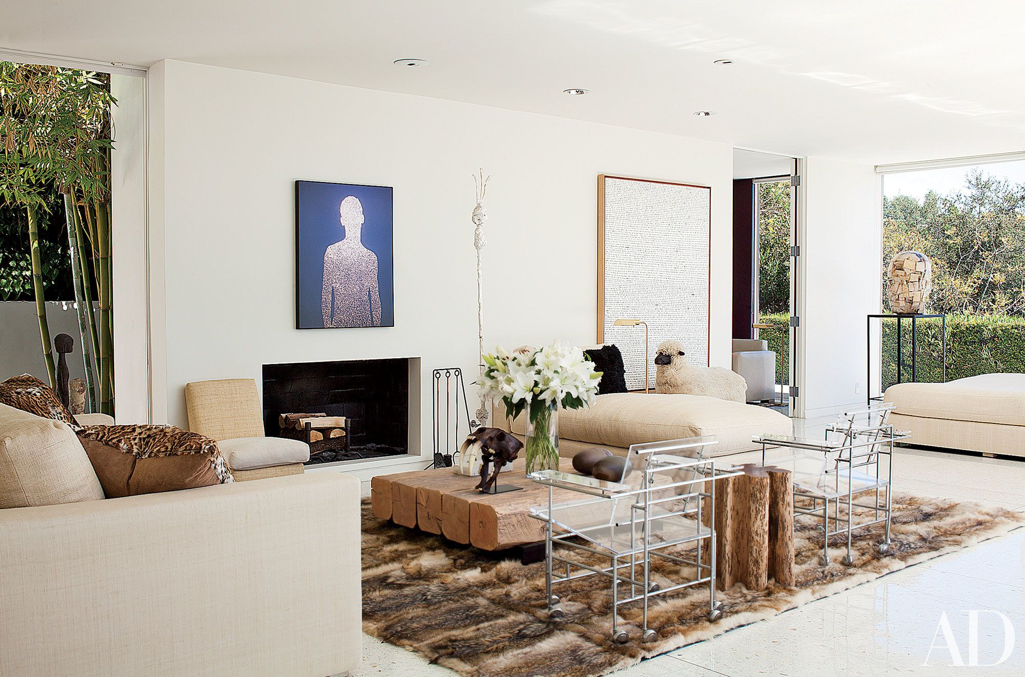 18 White Fireplaces from the AD Archives | Pinterest | White ...