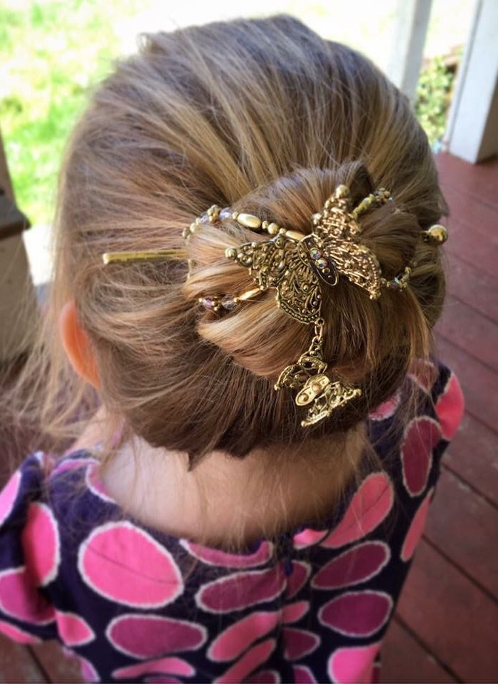 Gorgeous Bun Hairstyle Created With Dazzling Butterfly Flexi Clip
